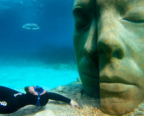 snorkeling statues immergées iles de lérins